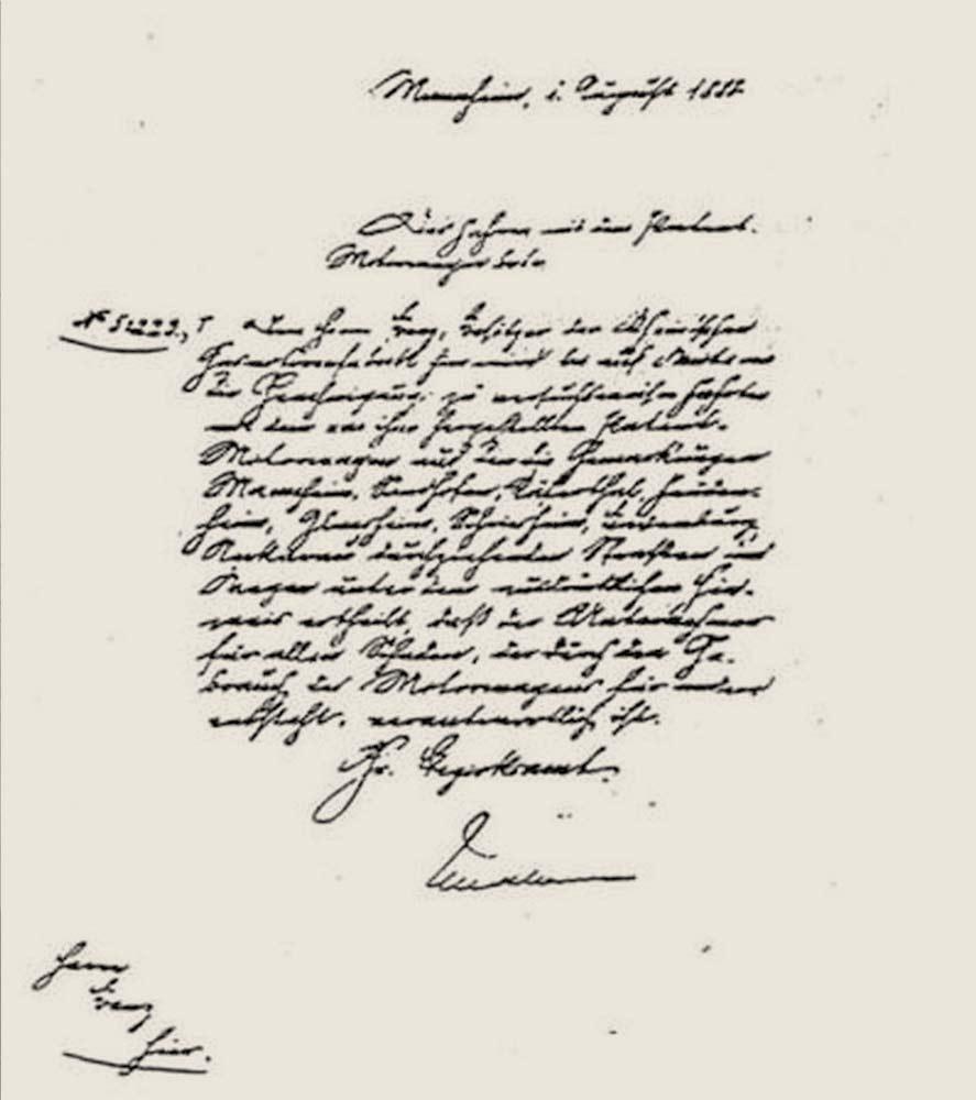 primeiro documento autorizando alguem a dirigir pelas estradas, assinado por Frederick I