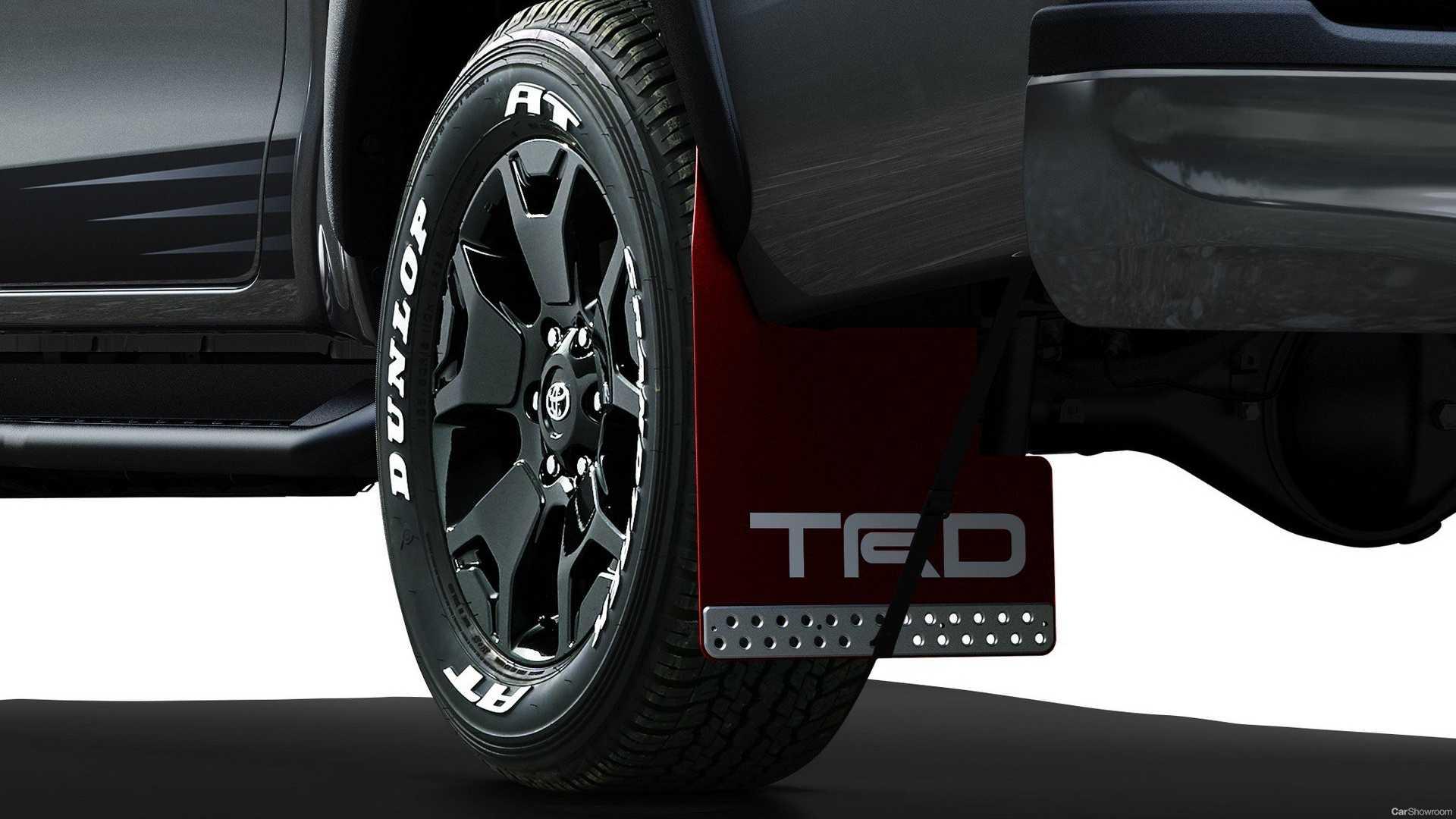 Rodas de liga pretas, Toyota Hilux Black Rally