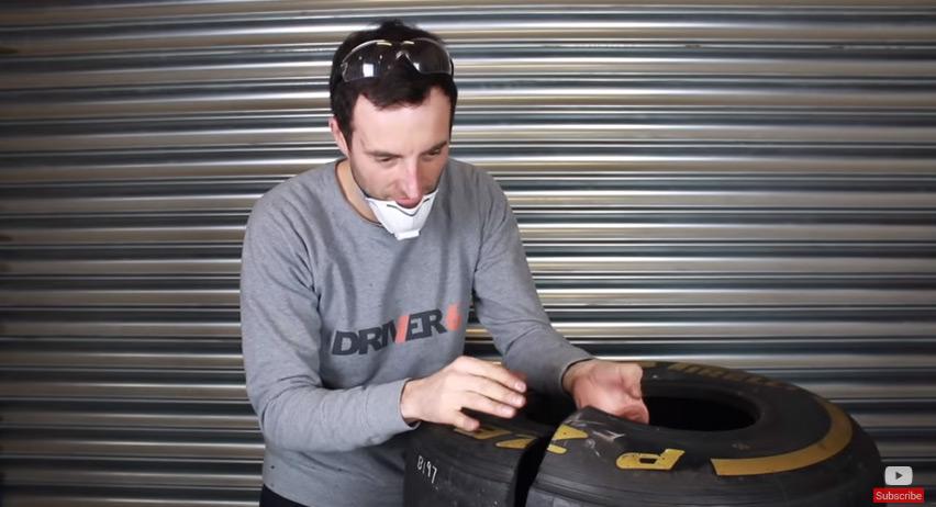 Como é um pneu de F1 por dentro? Foto: Reprodução Yputube