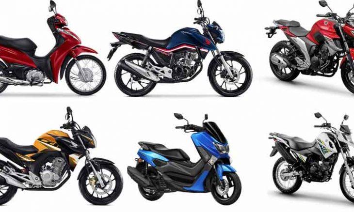 As 20 motos mais vendidas em outubro segundo a Fenabrave