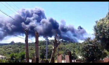 VÍDEO: incêndio atinge o Autódromo no RS