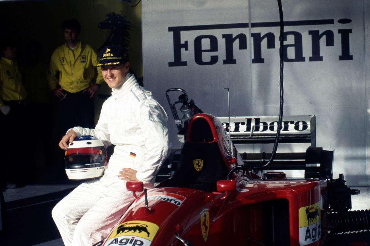 Depois de testar este carro, Michael Schumacher dirigiu onze temporadas pela Ferrari, nas quais conquistou cinco títulos mundiais e 72 corridas, além de dois vice-campeões do mundo e outro também fictício, o de 1997.