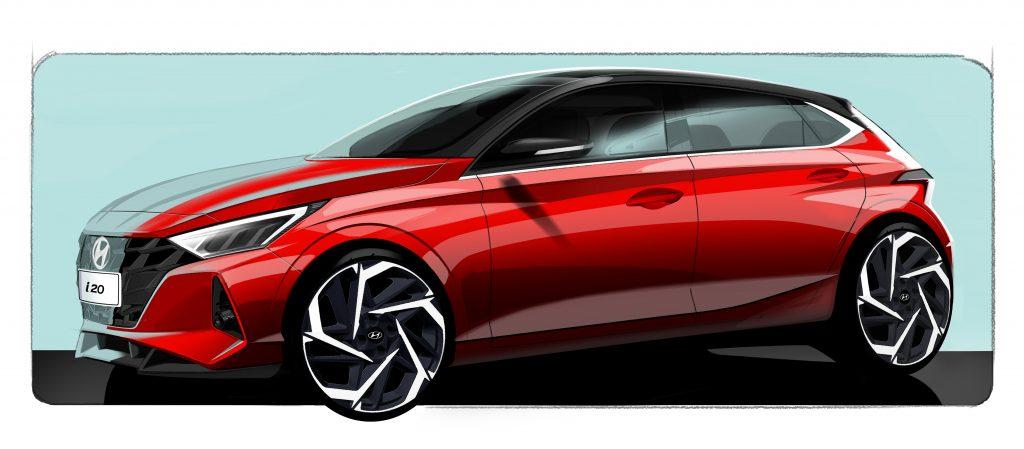 Hyundai revela esboço do novo i20, o HB20 europeu