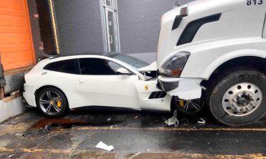 Após briga, caminhoneiro destrói Ferrari do patrão