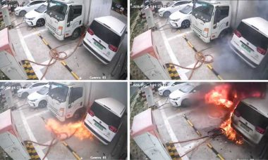 Carros elétricos pegam fogo na estação de carregamento na China. Veja o vídeo