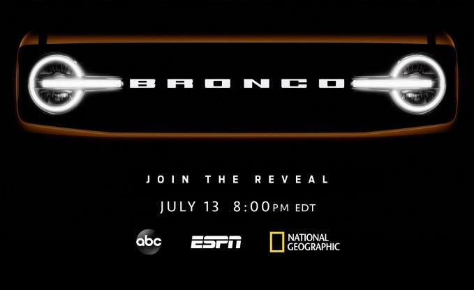 Estréia da família Ford Bronco em 2021; assista aqui
