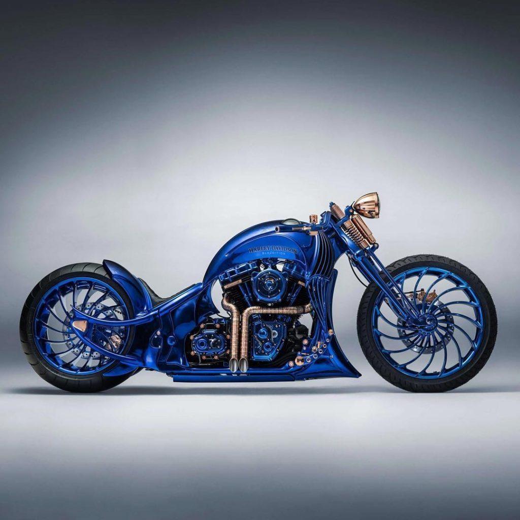 """Harley Davidson """"Blue Edition"""" a moto mais cara do mundo. Foto: Divulgação"""
