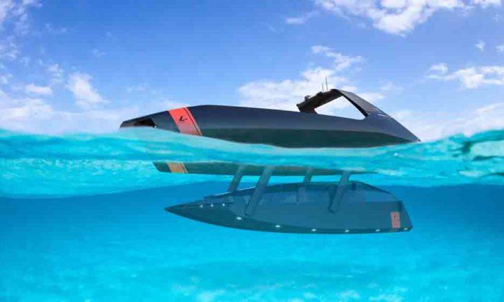 Platypus Craft apresenta o 'Futuristic Swordfish 40' um barco que pode andar até debaixo d'água