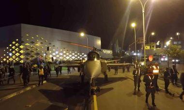 A operação com 140 militares foi realizada em Navegantes. Foto: Reprodução Youtube
