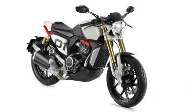 Peugeot apresenta sua primeira moto feita em parceria com a Mahindra. Foto: Divulgação