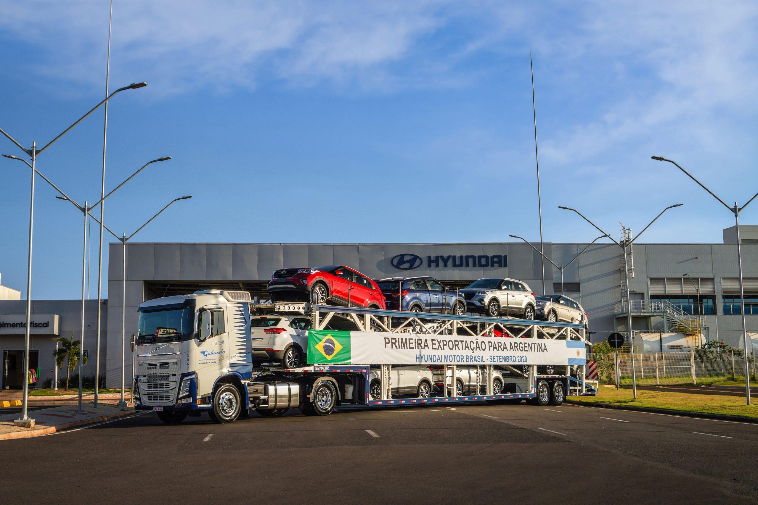 Hyundai começa a exportar carros do Brasil para a Argentina