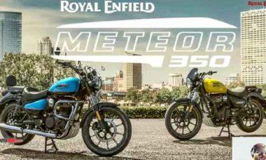 Nova Royal Enfield Meteor 350 será lançada entre 25 a 30 de setembro. Foto: reprodução Rushlane