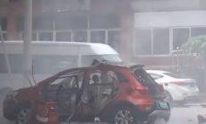Vídeo flagra explosão de carro elétrico na China
