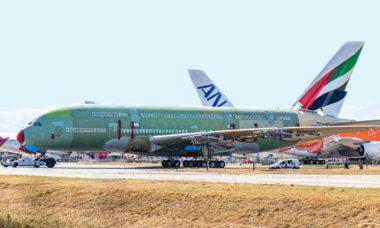 Último superjumbo Airbus A380 é montado na França. Foto: twitter