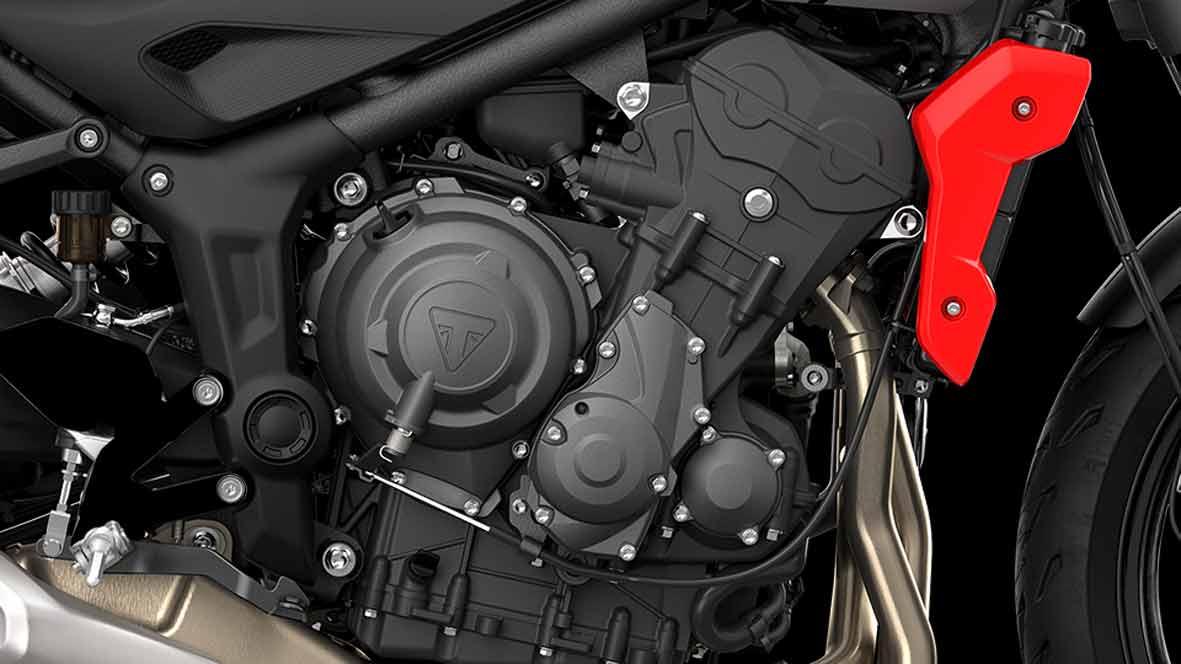 O novo motor triplo de 660 cc foi projetado para oferecer desempenho máximo em condições de uso diário. Foto: Divulgação