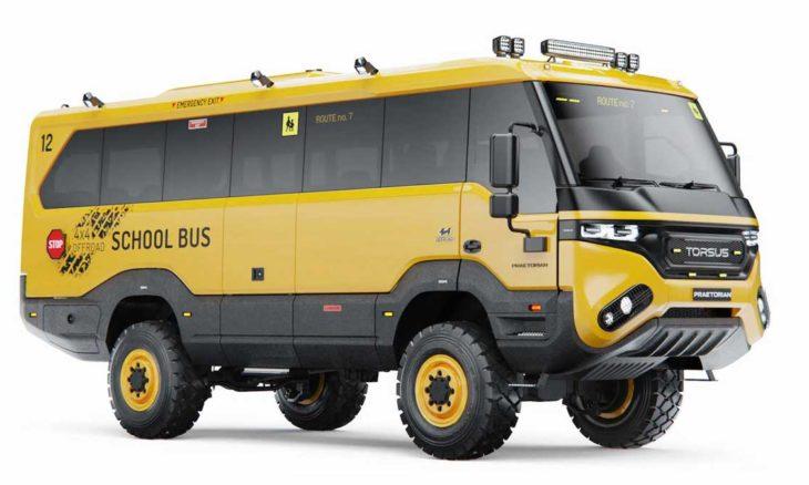 Torsus Praetorian lança ônibus escolar 4x4 para transporte em locais extremos. Foto: Divulgação