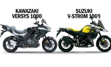 Comparativo Kawazaki Versys 1000 s x Suzuki V-strom 1000. Foto: Divulgação