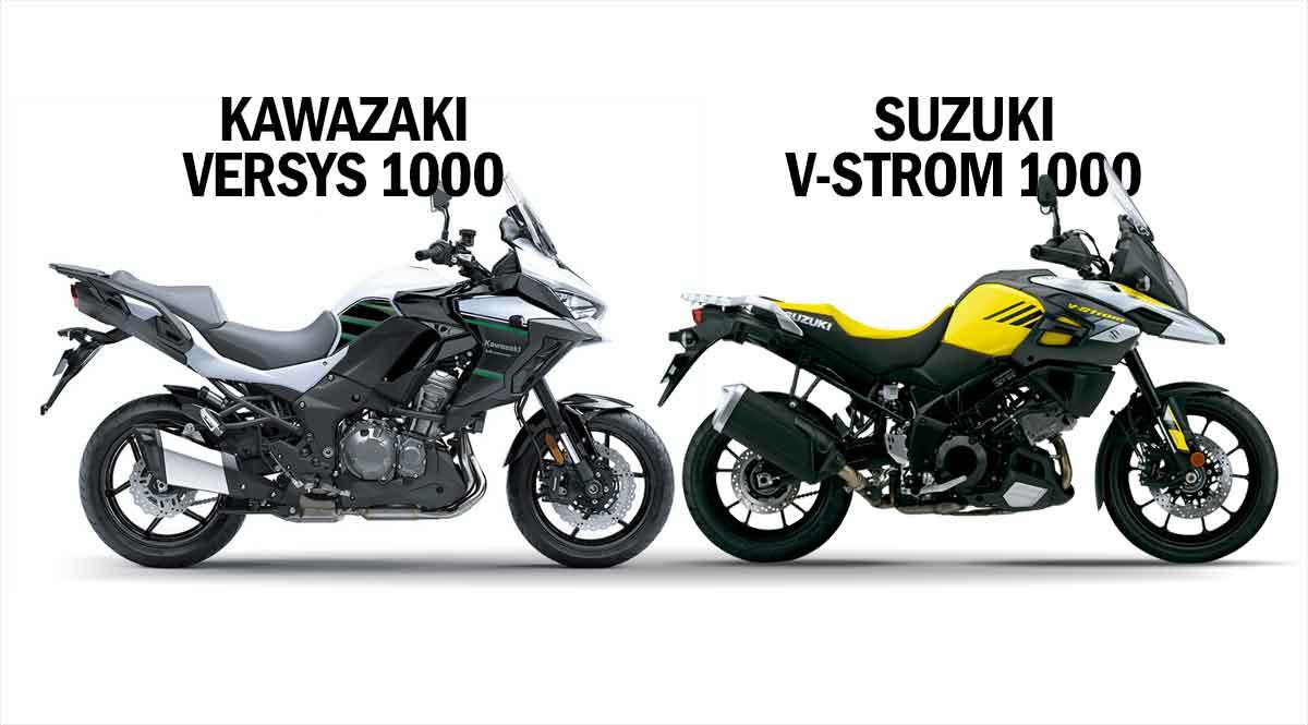 Comparativo Kawazaki Versys 1000 std    x Suzuki V-strom 1000. Foto: Divulgação