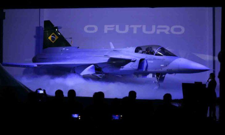 Novo caça Gripen F-39E é apresentado em Brasília. © Fabio Rodrigues Pozzebom/Agência Brasil
