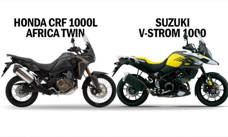 Comparativo Honda CRF 1000L Africa Twin x Suzuki V-strom 1000. Foto: Divulgação