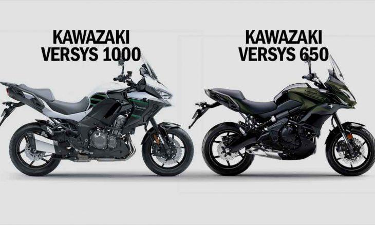 Comparativo Kawazaki Versys 1000 std x Kawazaki Versys 650. Foto: Divulgação