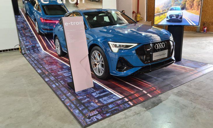Audi e-tron Sportback vira obra de arte no Rio de Janeiro