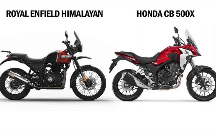 Comparativo Royal Enfield Himalayan 400 x Honda CB 500x. Foto: Divulgação