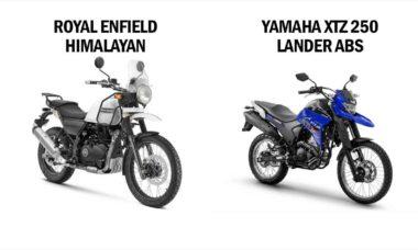 Comparativo Royal Enfield Himalayan 400 x Yamaha XTZ 250 Lander ABS. Foto: Divulgação