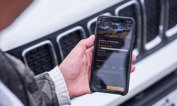 Jeep lança aplicativo de trilhas no Brasil