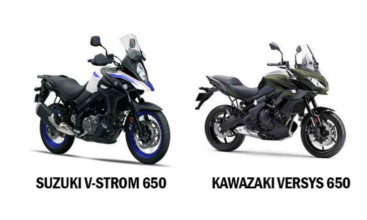 Comparativo Suzuki V-strom 650 x Kawazaki Versys 650. Foto: Divulgação