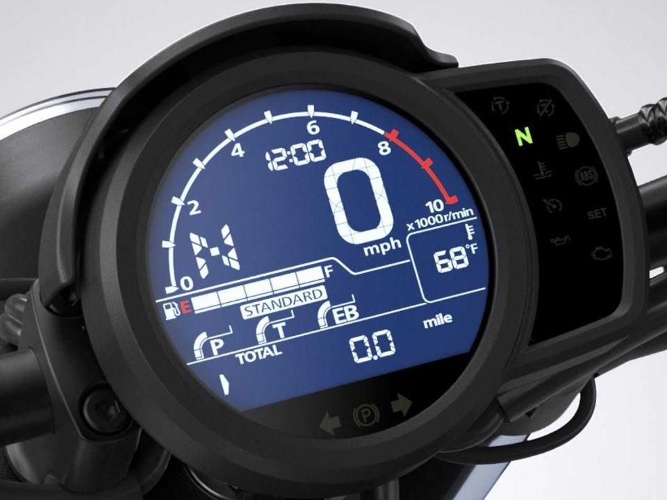 Painel digital da Honda CMX1100 Rebel