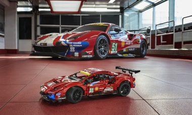 Ferrari 488 GTE vira kit Lego Technic