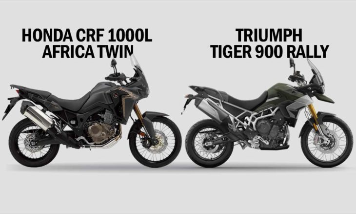 Comparativo Honda CRF 1000L Africa Twin x Triumph Tiger 900 Rally. Foto: Divulgação