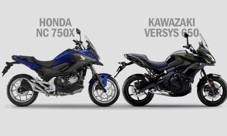 Comparativo Honda NC 750X x Kawazaki Versys 650. Foto: Divulgação