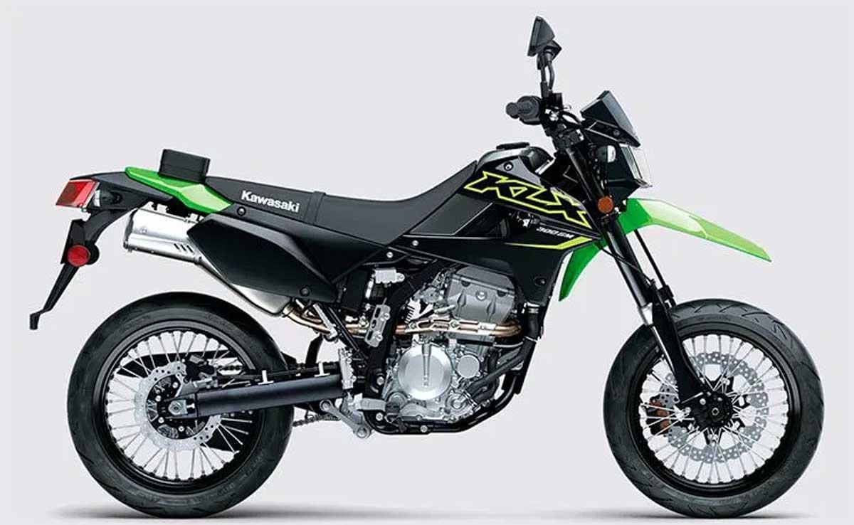Kawasaki apresenta a nova  KLX300SM Supermoto 2021. Foto: Divulgação