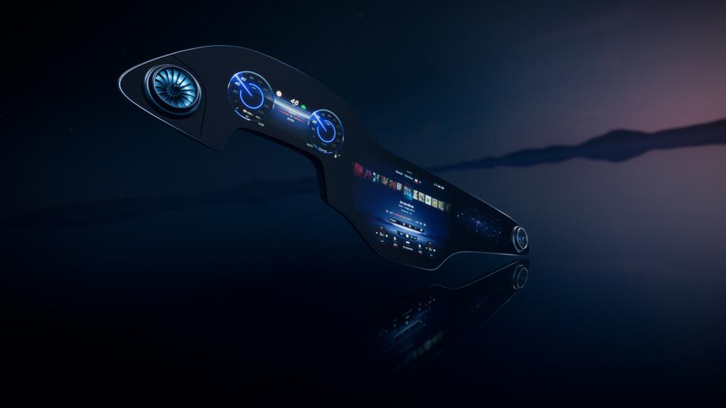 Mercedes-Benz MBUX Hyperscreen é um painel digital com tela panorâmica