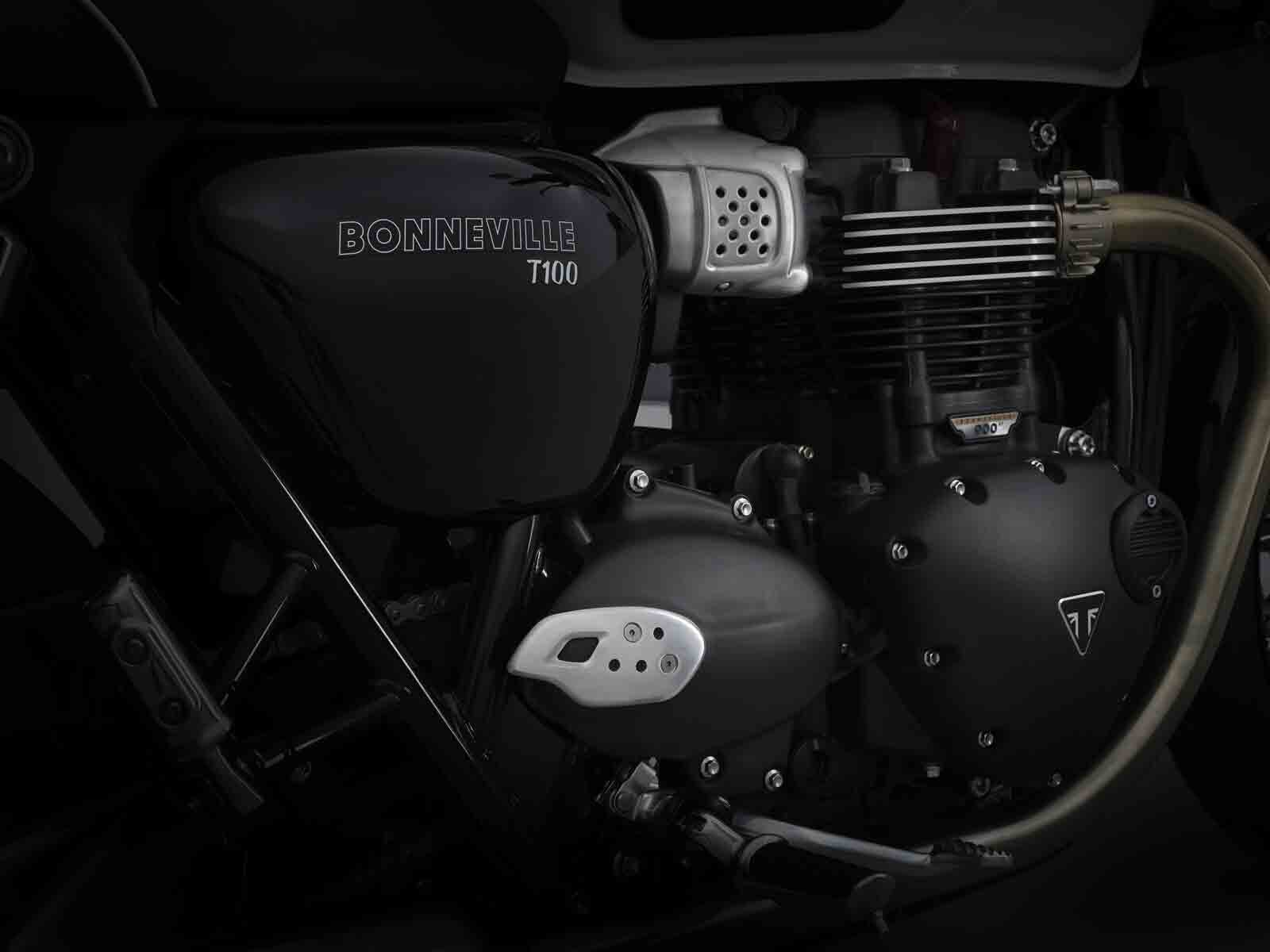 Triumph Bonneville T100. Foto: Divulgação