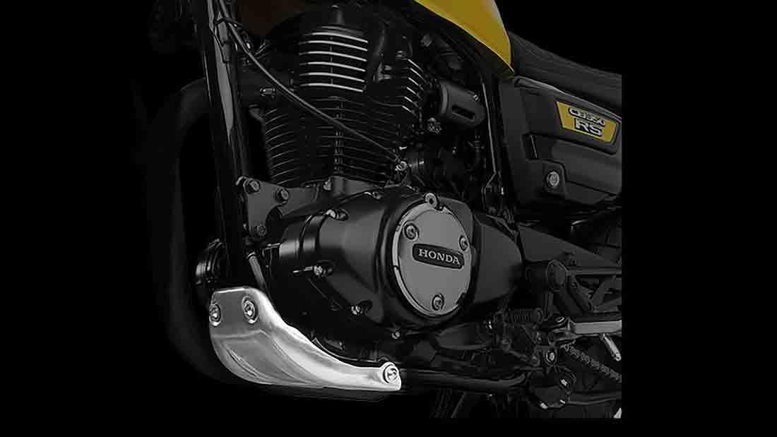 Tecnicamente, a nova CB 350 RS não difere da H'ness CB350, com o mesmo motor refrigerado a ar de 348 cm³ e 21 cv. Foto: Divulgação