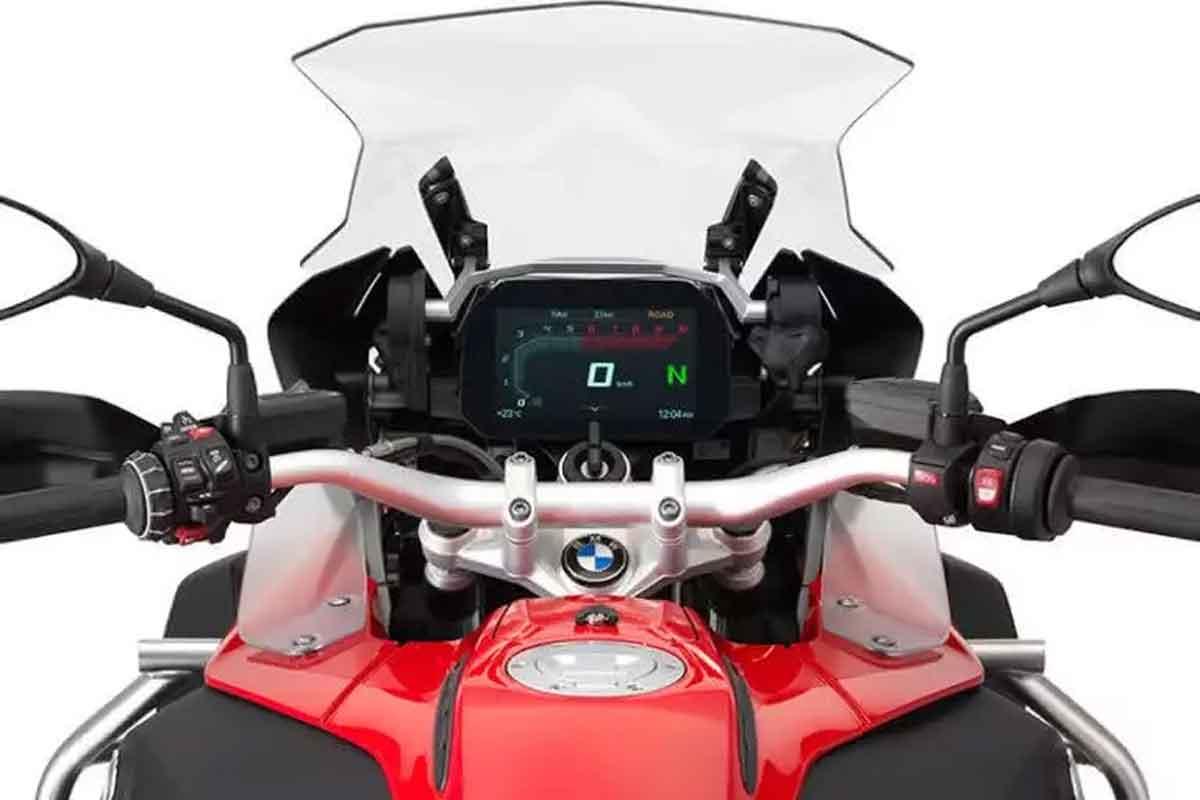 painel TFT da  BMW R 1200 GS 2021. Foto: Divulgação
