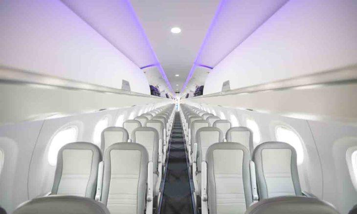 Embraer lança manual para uso de luz UV-C na higienização de aeronaves. Foto: Divulgação