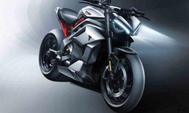 Triumph apresenta futura moto elétrica da empresa. Foto: Divulgação
