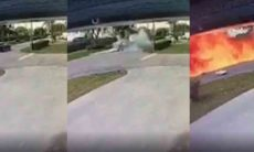 Vídeo: Avião cai em cima de SUV e mata três pessoas. Foto: reprodução