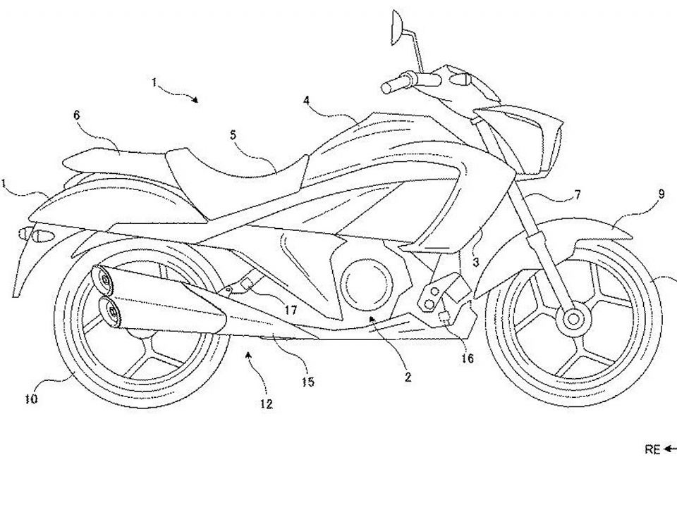 Patente da Suzuki Intruder 250. Foto: Reprodução / indianautosblog