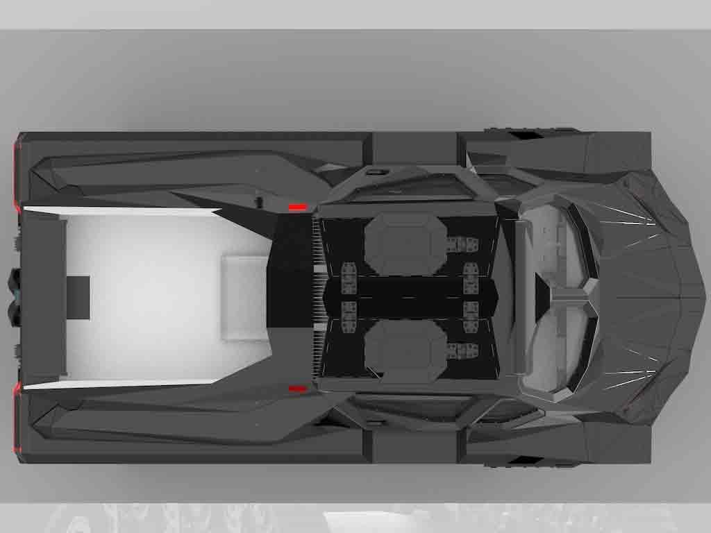 O Storm não é o primeiro veículo militar anfíbio, mas é o primeiro a tirar proveito de um trem de força híbrido-elétrico. Foto: Divulgação