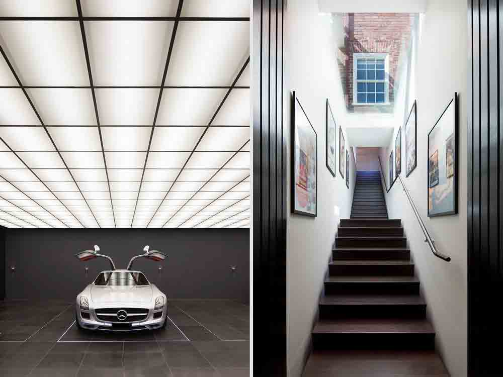 'The Wayne Residence', uma casa com uma garagem inspirada na Batcaverna. Foto: Divulgação