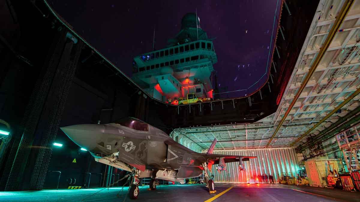 Porta-aviões da Marinha italiana obtém certificação de aeronavegabilidade do F-35B. Foto: Reprodução Twitter