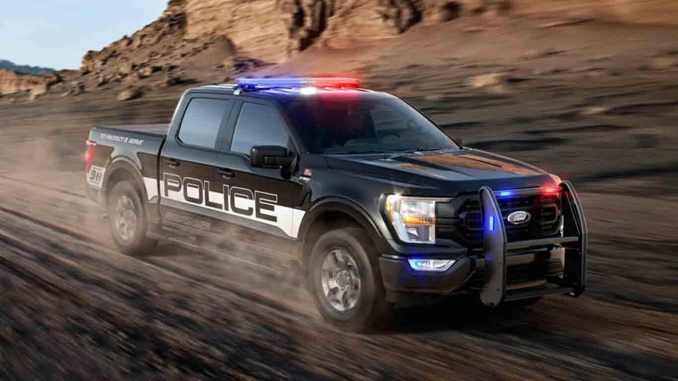 Ford Police Responder 2021, a F-150  cheia de assessórios para uso policial. Foto: Divulgação