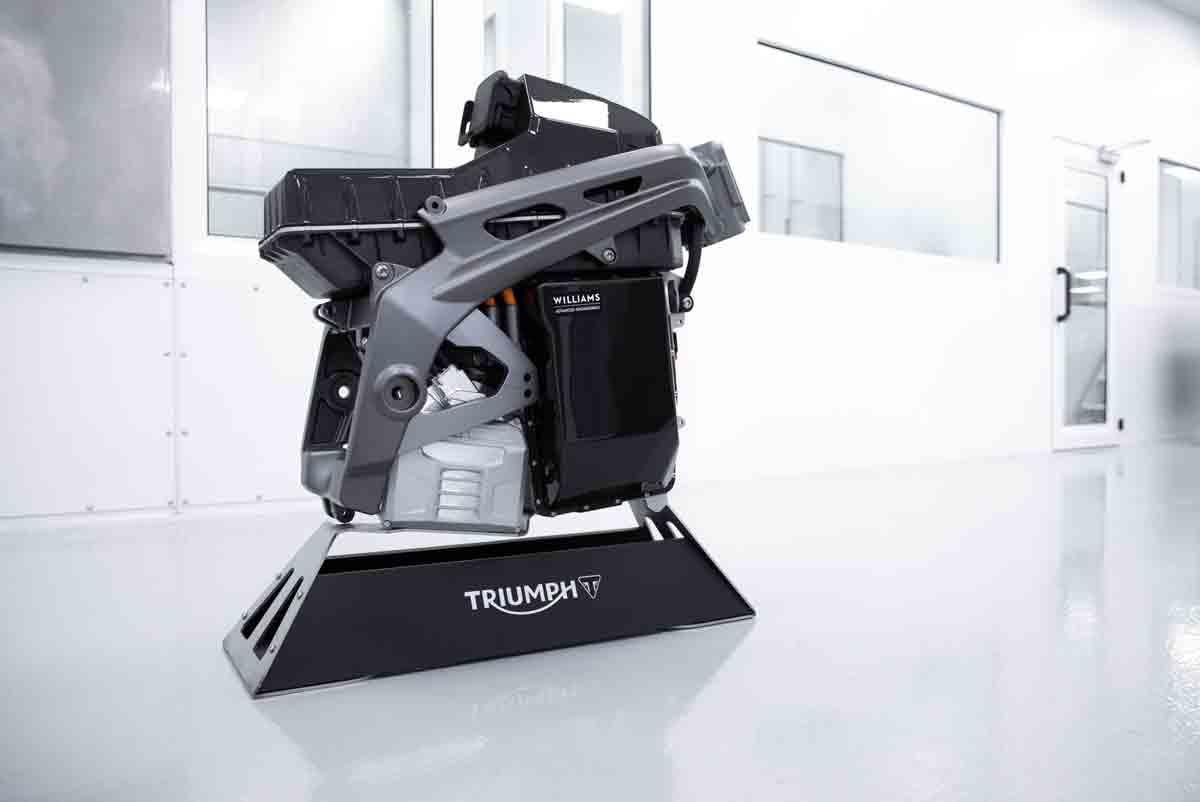 Motor elétrico da Triumph. Foto: Divulgação