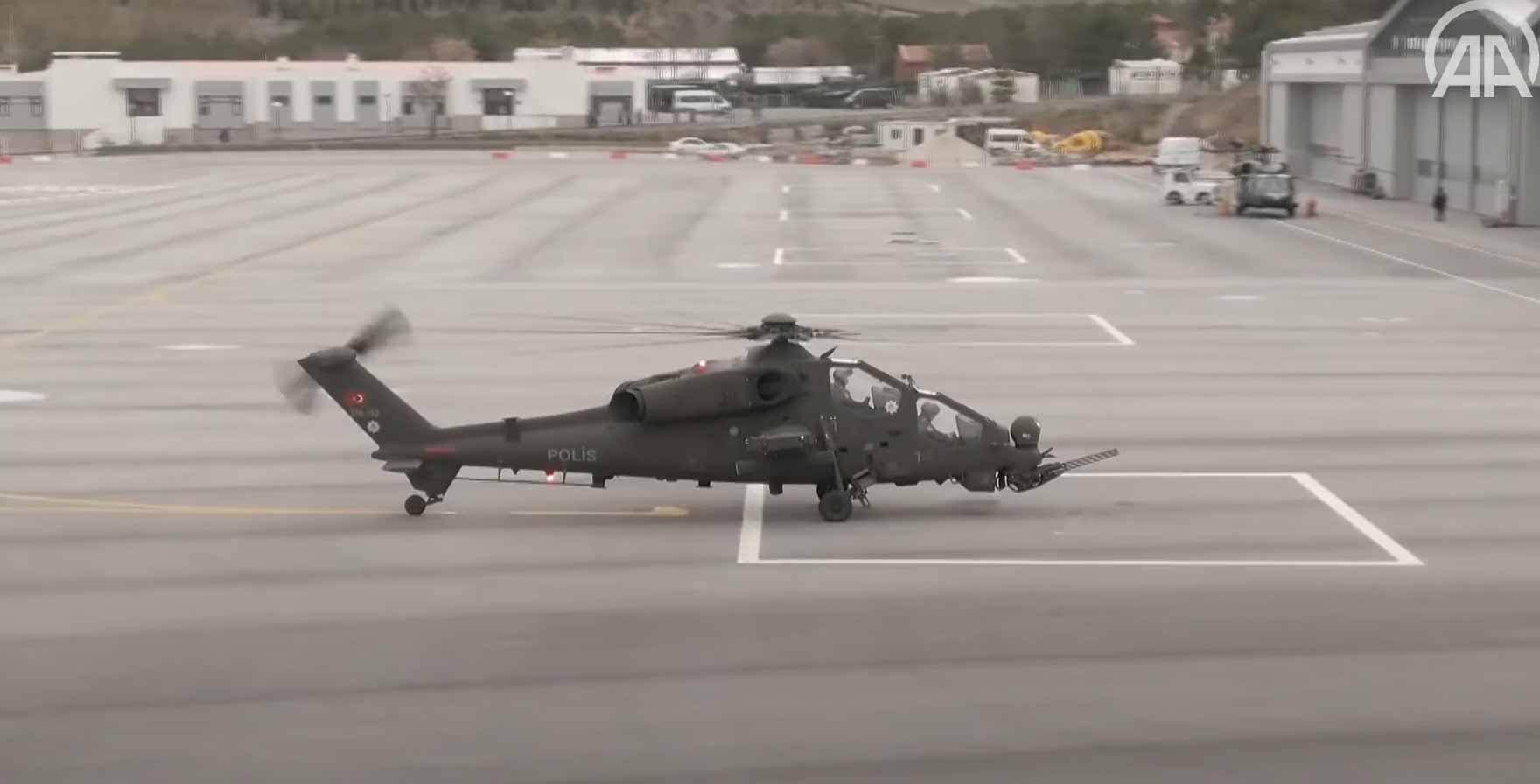 Policiais turcos agora têm seus próprios helicópteros de ataque. Foto: Reprodução Youtube