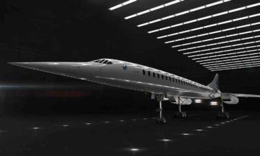 Avião supersônico da Boom Supersoni, promete voo de 4 horas para qualquer lugar do mundo por R$ 526. Foto: Divulgação